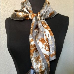 NWT COACH Small Silk Scarf